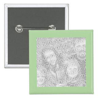 simple green photo frame 15 cm square badge