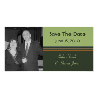 simple green save the date picture card