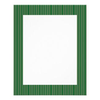 Simple Green Stripes Flyer Design