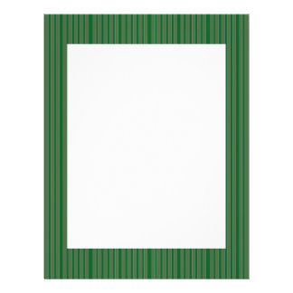 Simple Green Stripes Personalized Flyer