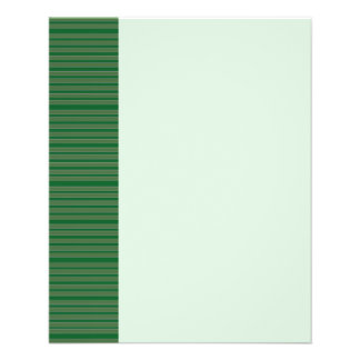 Simple Green Stripes Flyers