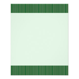 Simple Green Stripes Full Color Flyer