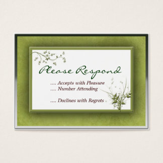 Simple Green Wedding Floral RSVP