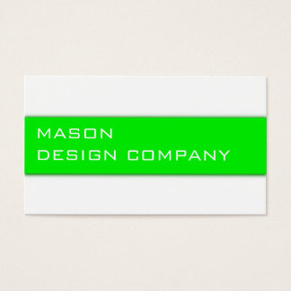 Simple Green & White Corporate Stylish Card