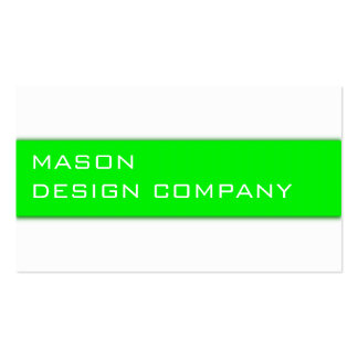 Simple Green & White Corporate Stylish Card Double-Sided Standard Business Cards (Pack Of 100)