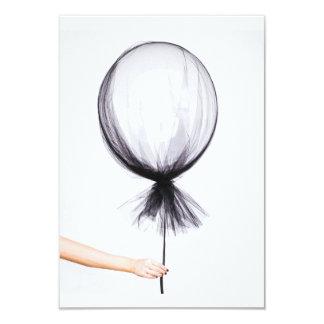 Simple grey balloon, sketch 9 cm x 13 cm invitation card
