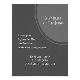 Simple Grey Circle Wedding 11 Cm X 14 Cm Invitation Card