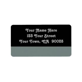 simple grey color address label