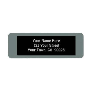 simple grey color return address label