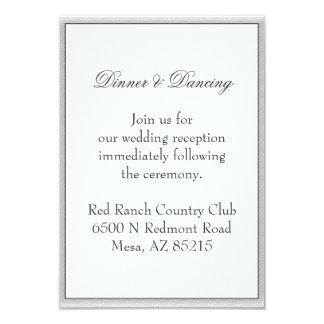 Simple Grey Eco Friendly Wedding Enclosure 9 Cm X 13 Cm Invitation Card