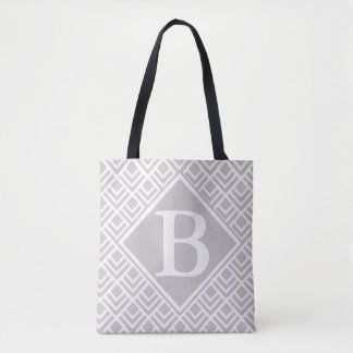 Simple Grey Geometric Pattern Tote Bag