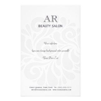 Simple Grey Hair Stylist Beauty Salon Price List 14 Cm X 21.5 Cm Flyer