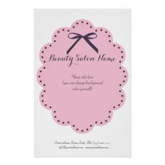Simple Grey Hair Stylist/Cosmetologist Price List 14 Cm X 21.5 Cm Flyer