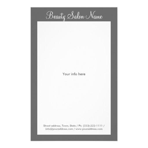 Simple Grey Hair Stylist/Cosmetologist Price List Flyers