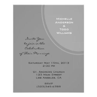 Simple Grey Modern Wedding 11.5 Cm X 14 Cm Flyer