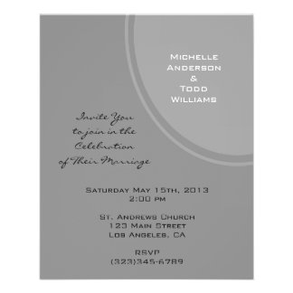 Simple Grey Modern Wedding Flyer