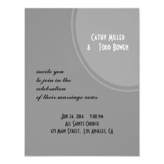Simple Grey Modern Wedding 11 Cm X 14 Cm Invitation Card