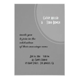 Simple Grey Modern Wedding 3.5x5 Paper Invitation Card