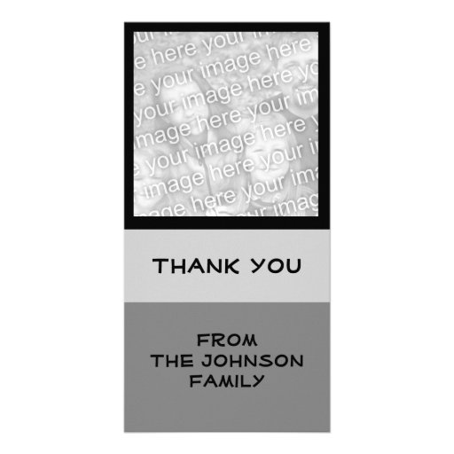 simple grey photo card template