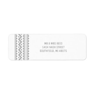 Simple Grey Stitch Christmas Holiday Label Return Address Label
