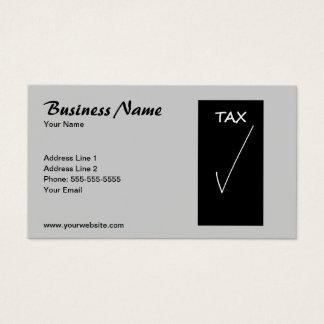 Simple Grey Tax Advisor Business Card