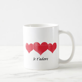 Simple Grunge Hearts Classic White Coffee Mug