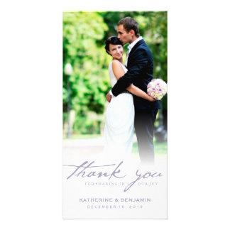 Simple Handwrite Script Classy Wedding Thank You Photo Cards