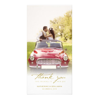 Simple Handwrite Script Classy Wedding Thank You Picture Card