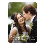 Simple Handwriting | Wedding Photo Thank You Card Invite