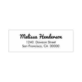Simple Handwritten Return Address Self-inking Stamp