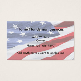 Simple Handyman American Flag Background