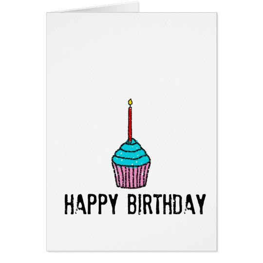 simple happy birthday greeting card