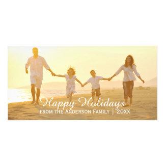 Simple Happy Holidays - Photo Card