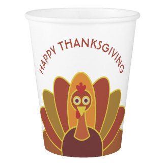 Simple Happy Thanksgiving Turkey | Paper Cups