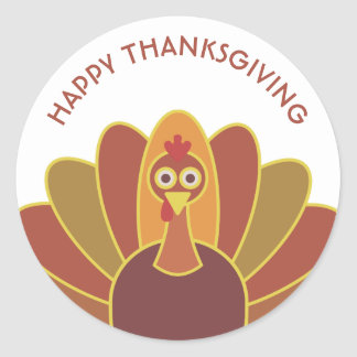 Simple Happy Thanksgiving Turkey | Sticker
