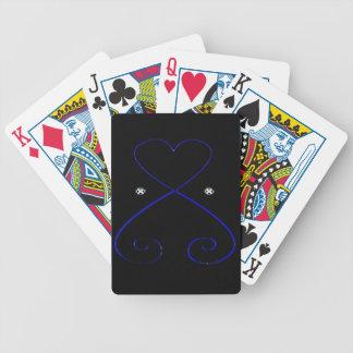 Simple Heart Playing Cards Black Velvet