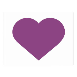 Simple Heart Plum Purple Modern Contemporary Postcard