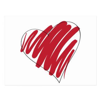 Simple Heart Postcard