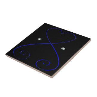 Simple Heart Tile Black Velvet