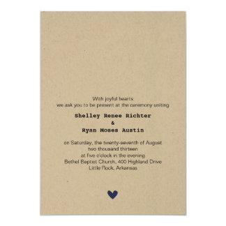 Simple Heart Wedding Invitation