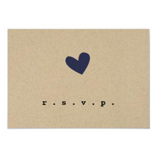Simple Heart Wedding RSVP Card
