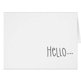 Simple Hello Blank Inside Greeting Card