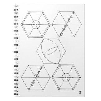 Simple Hexagons Spiral Notebook