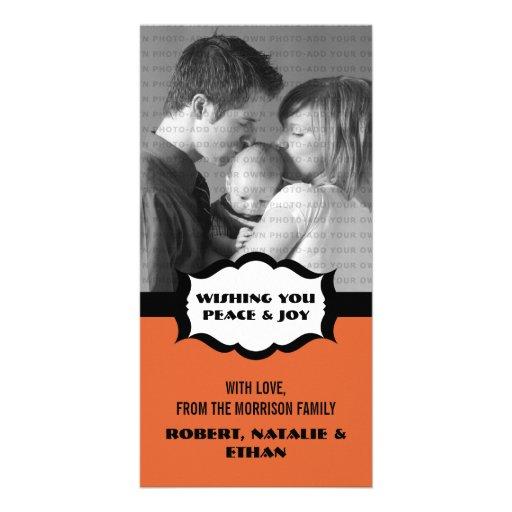 Simple Holiday Photo Card, Orange
