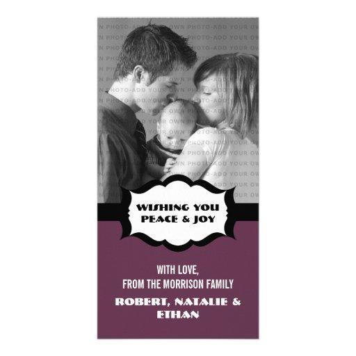 Simple Holiday Photo Card, Purple