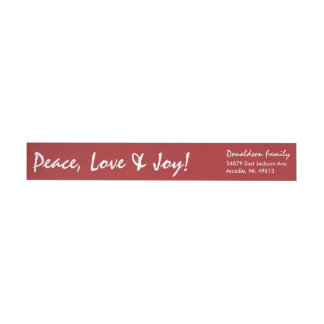 Simple Holiday Red Wraparound Return Address Label