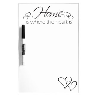 Simple Home Is Where The Heart Is Dry Erase Board
