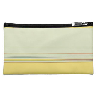 Simple Horizontal Striped - Yellow and Green Cosmetic Bag