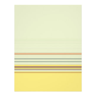 Simple Horizontal Striped - Yellow and Green 21.5 Cm X 28 Cm Flyer