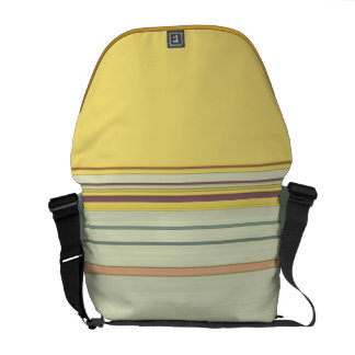 Simple Horizontal Striped - Yellow and Green Messenger Bag